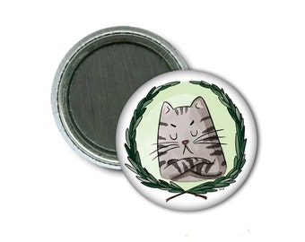 """1"""" Magnet/Aimant Unhappy Cat"""