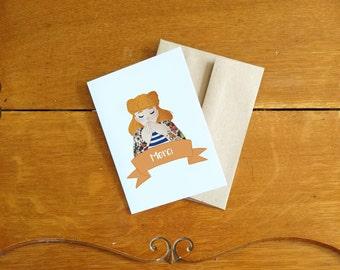 Card/Carte Merci/Thank you