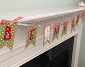 Holiday banner, Be Merry banner, Christmas banner, banner for mantle, holiday decorations, photo prop