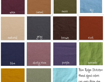 Hand Dyed Organic Cotton Sweatshirt Fleece Fabric Manufactured in the USA