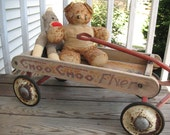 Reserved for Maria - Antique Child's Toy - Coaster Wagon - the Choo Choo Flyer - Now HALF Price!