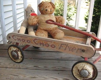 Antique Child's Toy - Coaster Wagon - the Choo Choo Flyer - Price Just Reduced!