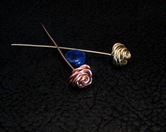 Rose Head pin, jewelry finding, jewelry accessories, fancy headpins, beading headpin, headpin,  4