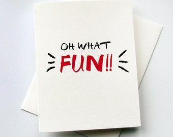 Letterpress Love card - Oh What Fun!!