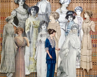 Lot of Vintage Paper Dolls--the Women