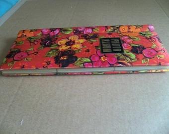 vintage flowered photo album