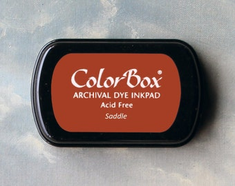 Red-Brown Stamp Pad (Saddle) // Archival ink // ColorBox