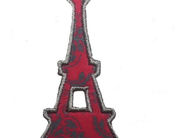 Eiffel Tower Iron On Applique Patch, Eiffel Tower Patch