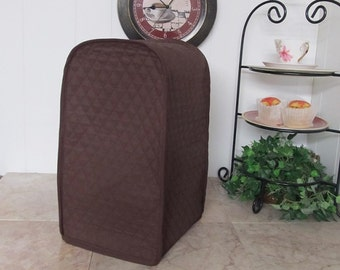 Brown Blender or Food Processor Kitchen Small Appliance Cover Ready To Ship Next Business Day