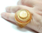 SALE Sz 5 Glitter Glam Rock Resin Ring
