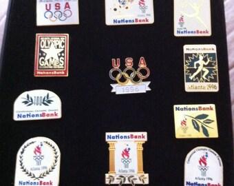1996 Olympic Nations Bank Pins