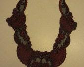 Black Red Victorian Gothic Lace Applique