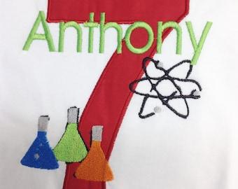 GreatStitch Science Lab Birthday Shirt
