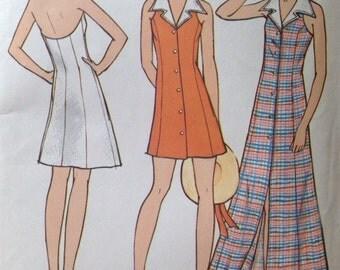 Vintage Butterick 6670 Misses' Summer Halter Dress • size 12