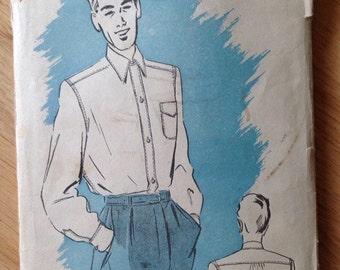Vintage Advance 4642 Convertible Collar Shirt • Men's neck 16