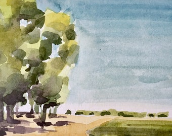 Tree Shadows, Summer • original watercolor painting