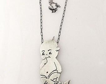Kewpie Mermaid Necklace