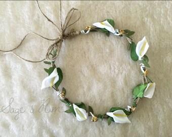 Calla Lily flower halo