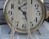 Vintage Multi Strand Faux Pearl Necklace Japan Three Strand Ecru Graduated Pearls Bride Wedding Something Old