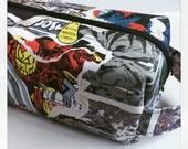Boy Toiletry Bag, Kids Toiletry Bag, Vacation /Toiletry / Travel Bag - Comics