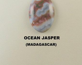 Sale Price: Excellant Ocean Jasper Oval Designer Cabochon for Jewelry Artisans.