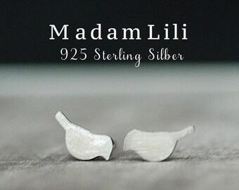 "925 Silver Mini Ear studs ""Togetherness"""
