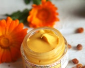Sea Buckthorn & Calendula Facial Balm. Natural, Vegan Facial moisturizer with Mango butter and Argan oil.