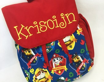 Paw Patrol Toddler backpack - Paw Patrol Puppy backpack - personalized