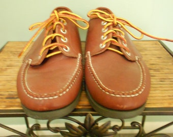 LL Bean Boat Shoes / Brown Leather Loafers / Size 10 M
