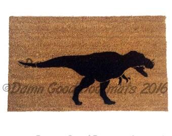 T Rex security warning doormat™