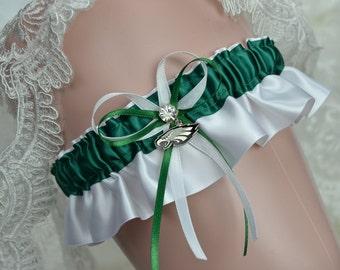 Wedding Keepsake Garter  -Philadelphia Eagles Theme- Bridal Keepsake Garter