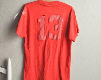 Vintage Threadbare Red #13 We Gladatior Volleyball T Shirt