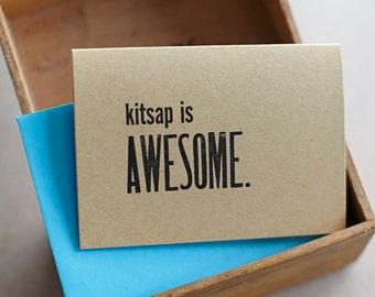 Kitsap is Awesome - Letterpress Card
