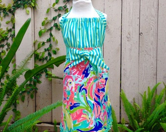 Little Girl Lilly Pulitzer Apron