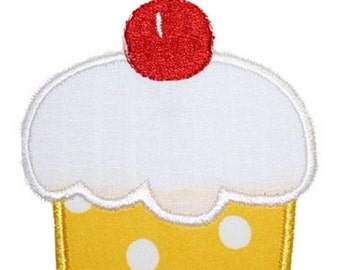 126 Cherry Cupcake Machine Embroidery Applique Design