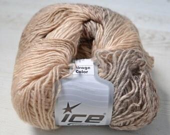 Destash yarn, Knitting yarn, Cream, Camel, DK, Light Worsted yarn, Y43