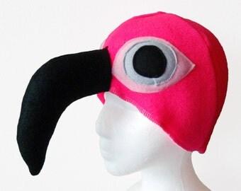 Flamingo Hat. Pink Bird. Hot Neon Pink, Fantasia