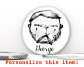 Geometric Macho Man Personalize Pin, Magnet, Pocket Mirror - Groomsmen Gifts - Valentine Dude Gift