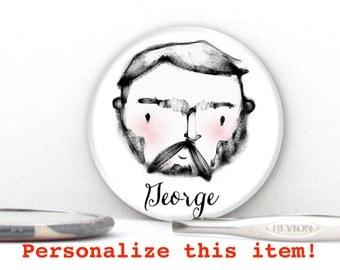 Macho Man Personalize Pin Badge, Magnet or Pocket Mirror - Groomsmen Gifts