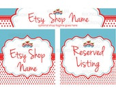 Etsy Shop Banners - Etsy Banners - Cute Etsy Banners - Polka Etsy Banners Cupcake Etsy Banner - Etsy Banner Sets - Cupcake Party
