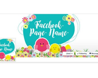 Timeline Cover & Profile Picture - Easter Facebook Timeline Cover - Social Media Cover - Easter 3