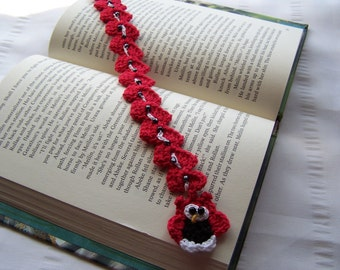 For book lovers crochet bookmark with owl book mark is 11 inch long