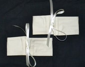 4 Small Wrap N Tye IVORY Cotton & Ribbon Bow Curtain Cuff Tiebacks - See My Shop For Lots Of Colours Available