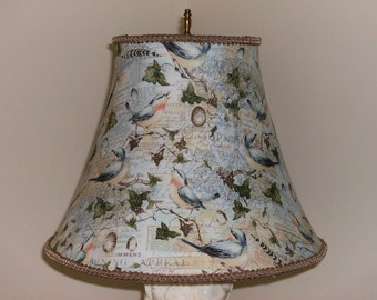 Blue Bird and Ivy Lampshade