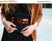 Brown Leather Belt  - waist belt - dress leather sash - wide leather belt -sash belt - women belt