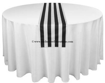 Black and White Stripe Table Runner Wedding Table Centerpiece Linens Decoration Black Stripe Home Decor Super Sale
