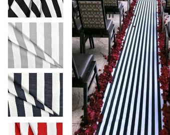 wedding aisle runner stripe isle runner black gray navy blue red