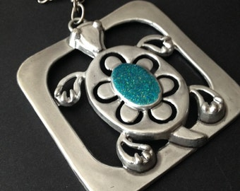 Funky Chunky Turtle Necklace