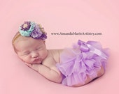 Lavender Tutu Bloomer, Baby Bloomers. Ruffles all the way around, baby girl bloomers, Newborn bloomers. Diaper Cover, Ruffle Diaper Cover