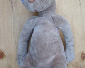 "Vintage E.T. The Extra Terrestrial Doll // Plush Stuffed Animal 11"" Toy // Original 1980s Kamar 1982"